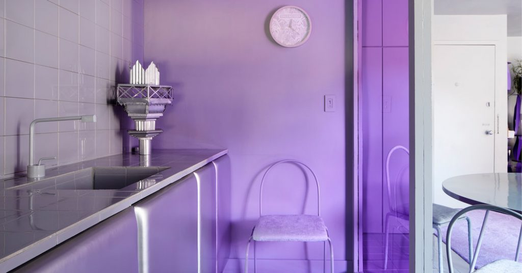 In NoLIta, a Rental Renovated in Shades of Purple